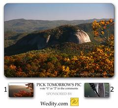 Looking Glass Rock - Oct 16 (Blue Ridge Parkway Daily) Tags: autumn fall evening northcarolina rockface granite blueridgeparkway lookingglassrock cherrycoveoverlook