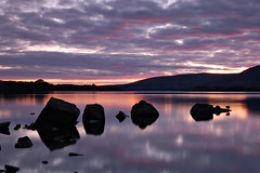Loch Lomond (jamest1982) Tags: uk longexposure greatbritain sunset sky clouds landscape bay scotland nationalpark scenery stones ducks lochlomond milarrochybay milarrochy