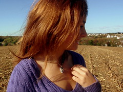 29/365 (Awaiting September) Tags: autumn houses red sky cold fall girl hair shoe necklace sweater corn purple wind chilly feild teenage cornfeild