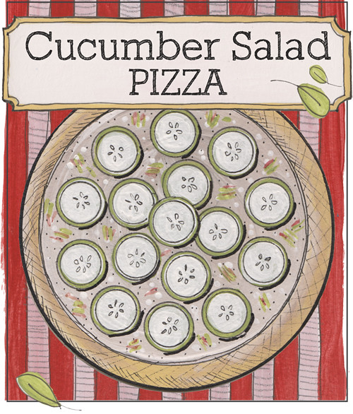 cucumber salad pizza
