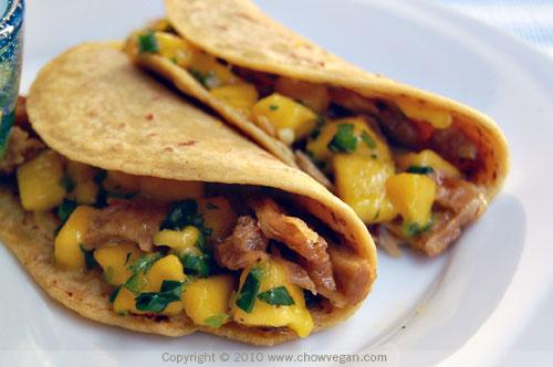 Street-Style Veggie Duck Taco with Mango Salsa