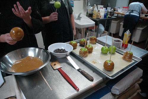 Making the apples