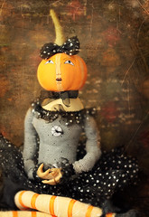 Stella (VictoriaScreams) Tags: love halloween vintage pumpkin this doll witch stripes button tulle ragdoll tutu fauxvintage blackandorange pumpkinheaddoll i victoriascreamstexture florabellaactionscosmo 7gypsiesscrapbookpaperbackground jessicadrossintexturesmurmurs kimklassentexturesgrunged coffeeshopalittleperkawesomeaction