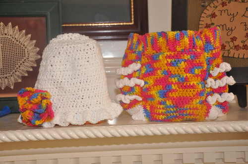 Baby diaper cover and hat