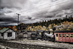 Cumulus Bituminous (Rob Hanson Photography) Tags: railroad train photoshop grunge traintracks newhampshire nh coal vignette cog hdr steamengine stormclouds hdri mountwashington cograilway photoshoplayers waumbeck photomatixpro tonemapping tonemap hdrsoft niksoftware ononephototools unifiedcolor robhanson promoteremotecontrol robhansonphotographycom hdrexpose hdrefexpro