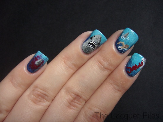 Jaws Nail Art Design
