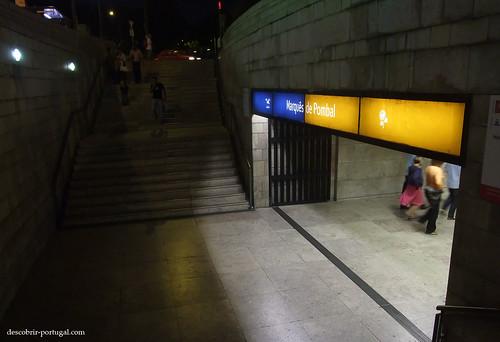 Entrada da estação Marquês de Pombal