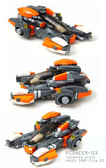 PIONEER 03 (Hase0) Tags: orange anime speed ship lego space guns omg spacecraft starfighter haseo hase0