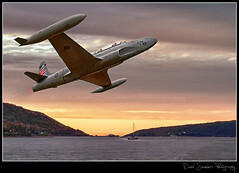 "Lockheed T-33 ""T-Bird"" (Dave the Haligonian) Tags: ocean sunset sea sky canada composite clouds sunrise canon bay coast harbor marine ship novascotia navy jet vessel atlantic adobe shore maritime 7d airforce digby hdr merge trainer blend rcaf annapolisbasin cs5 copyrightallrightsreserved davidsaunders davethehaligonian lockheedt33tbird img3193img3059"