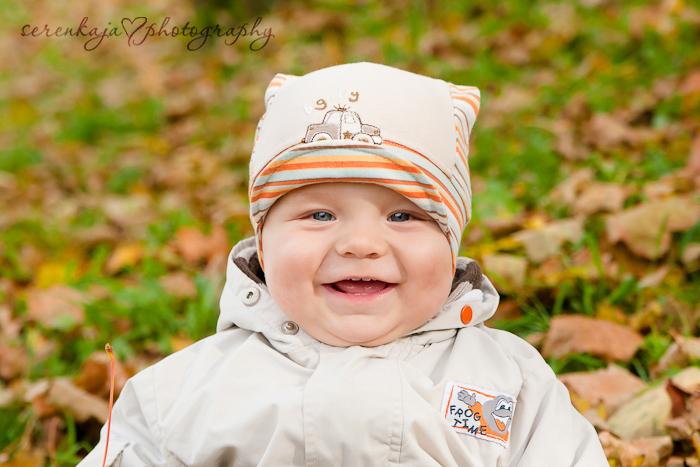 Осенняя фотосессия в парке. Андрюша