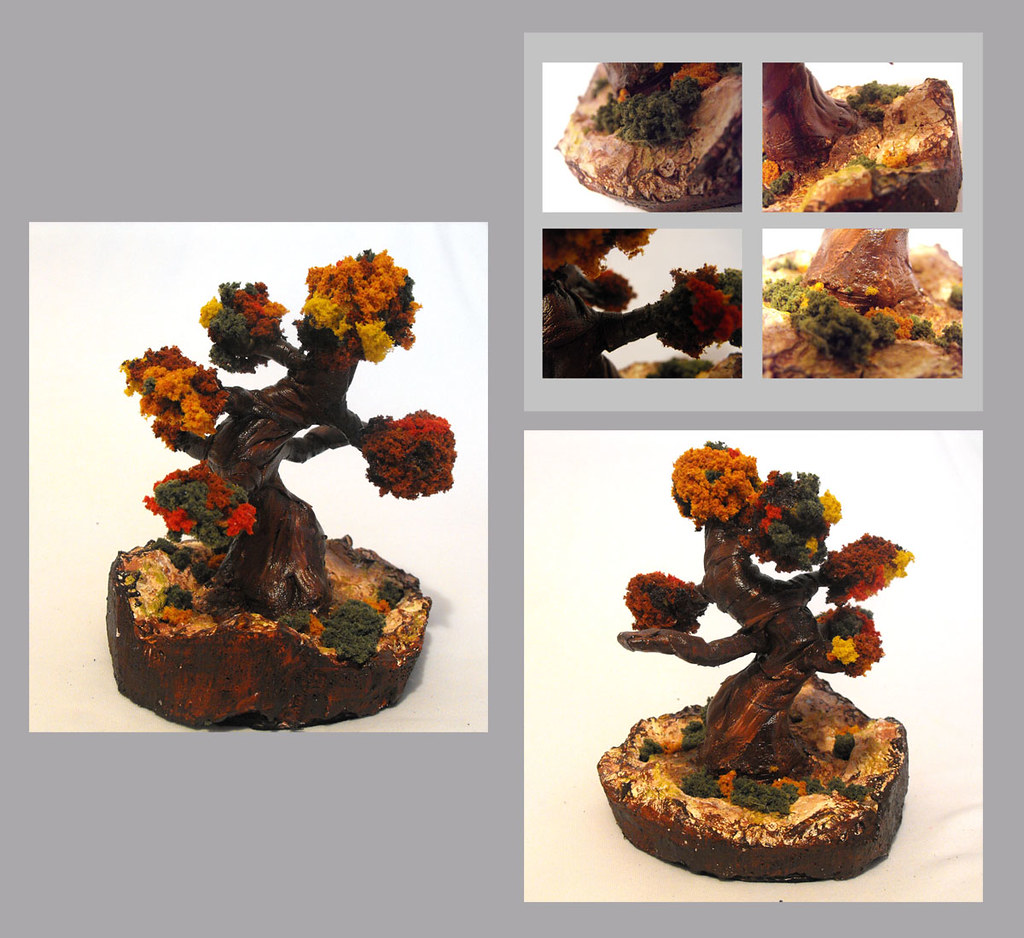 Home decor. Decorative bonsai tree.