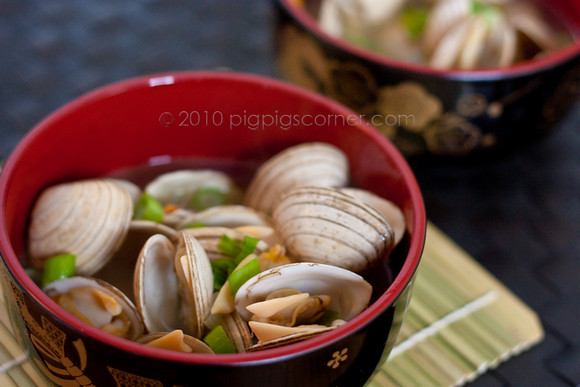 Sake-Steamed Clams (Asari no Sakamushi)