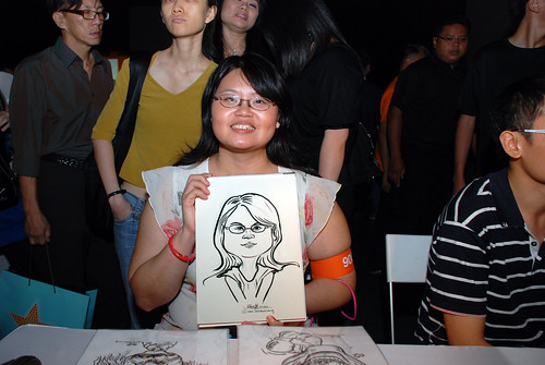 caricature live sketching for SDN First Anniversary Bash - 4
