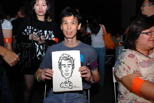 caricature live sketching for SDN First Anniversary Bash - 12