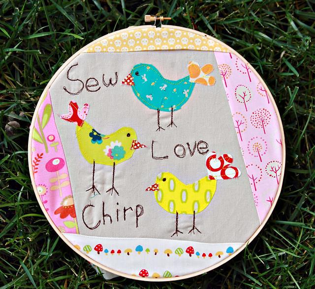 Sew.Love.Chirp. Hoop