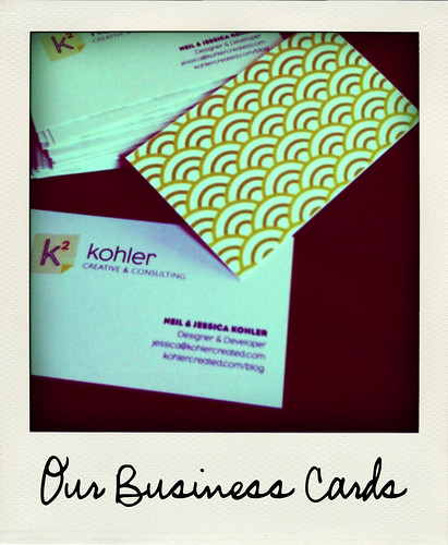Our Homemade Business Cards