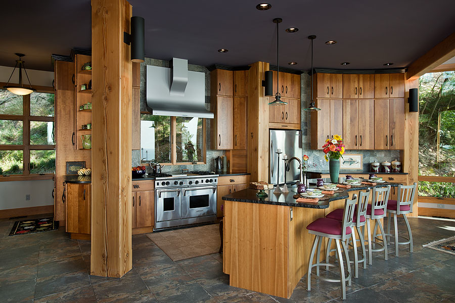 combining curves and angles kitchen riverbend timber framing tags homes usa canada