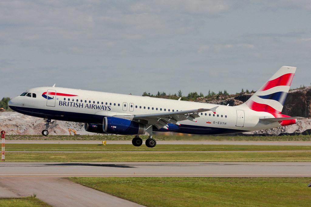 British Airways - G-EUYH - Airbus A320-232