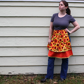 State Flowers Apron - Modeled