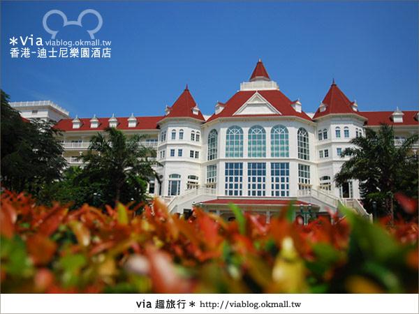 【香港住宿】跟著via玩香港(4)~迪士尼樂園酒店(外觀、房間篇)2