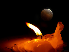 Night Prayer (-clicking-) Tags: lighting light moon love night fire candle nightshot faith prayer praying midnight moonlight colorsonblack colorphotoaward thechallengefactory 100commentgroup nguyncu
