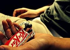 Addicted to kit kat. (Ghida albarazi) Tags: brown black chocolate nails addicted hyj ketkat