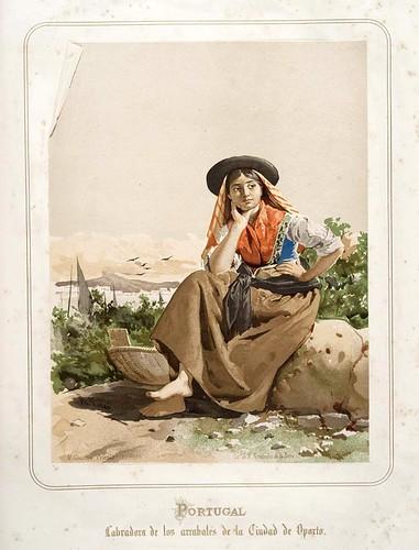 021-Portugal-Labradora de los arrabales de Oporto-Las Mujeres Españolas Portuguesas y Americanas 1876-Miguel Guijarro