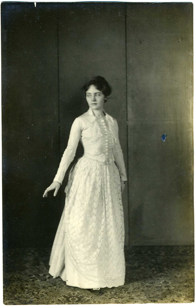Real Photo Postcard: Young Woman In Period Dress