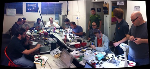 Soldering at @crashspacela