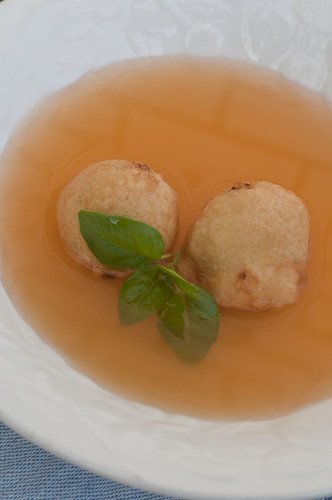 tomato broth with ricotta fritters4
