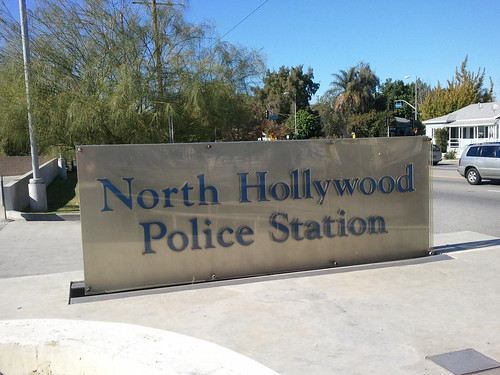 LAPD North Hollywood Station Signage
