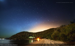Barrenjoey Head, Sydney (Christopher Chan) Tags: beach night canon stars australia astrophotography nsw 7d newsouthwales palmbeach 1022mm barrenjoey 3star