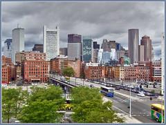 Boston skyline (Bert Kaufmann) Tags: usa boston skyline america canon ma us day cityscape unitedstates cloudy massachusetts windy overcast powershot amerika hdr treated cityview treatment bewerking stadsgezicht amerique stadsbeeld hdrefexpro