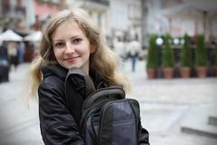 Galya at Rinok Square (feradz) Tags: portrait girl beautiful square lviv ukraine charming citycenter galya україна lemberg украина lwow rinok львов львів ukrayna