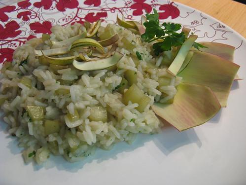 risotto gambi carciofo