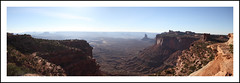Canyonlands National Park Panorama (samueljsweet) Tags: park blue red sky green fall rock america utah october afternoon desert united grand canyon national canyonlands moab states shrub