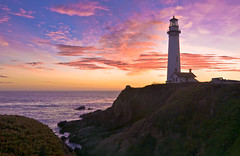 The Lighthouse at Sunset (Matt Granz Photography) Tags: ocean california longexposure sunset lighthouse night clouds twilight nikon bravo pacific tokina bayarea 1224mm sanmateo pigeonpoint hwy1 2010 fresnellens d90 theunforgettablepictures scenicsnotjustlandscapes