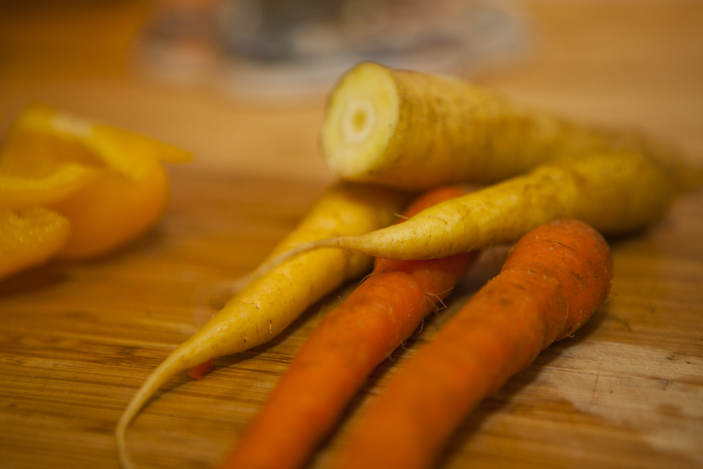 Organic Carrots with vinegar oil sauce