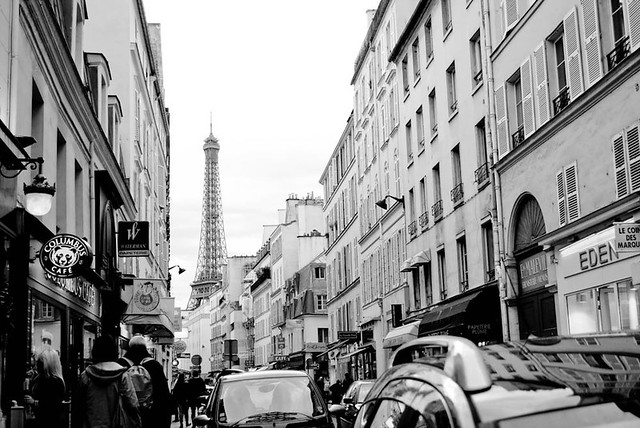 a busy paris street