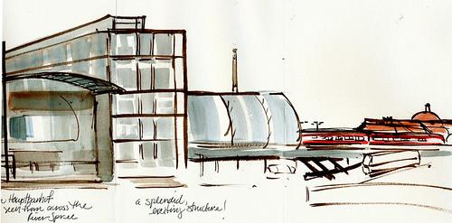 Berlin: Hauptbanhof, right side of sketch