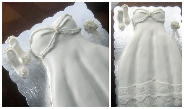 wedding dress cake for bridal shower