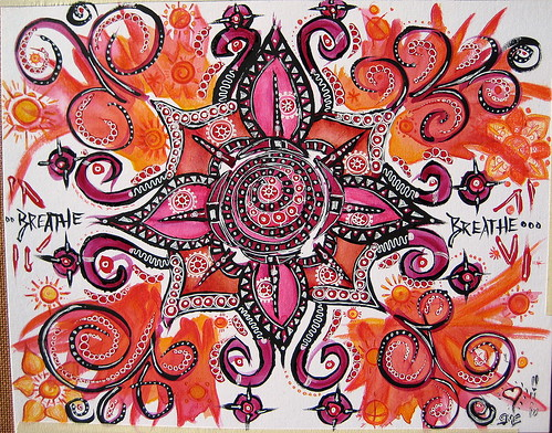 Breathe Mandala - Mixed Media on Clairefontaine Fine Art paper