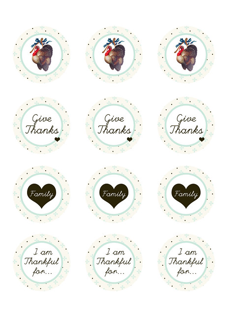 Thanksgiving  Printable circles