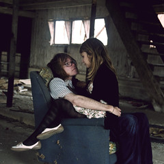 (yyellowbird) Tags: boy favorite house abandoned love girl square chair couple shane cari shanes