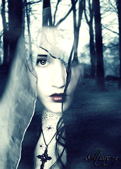 Woods Witch (missy-g-Digital Artist) Tags: blue forest photomanipulation deviantart allrightsreserved darkart blueblack copyrighted natalieshau missyg nightfate nightfateactions brokenvainstockd2xiy3p