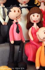 Modelado pareja rosa en azúcar