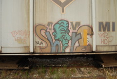 Shore NUA (Stalkin The Lines) Tags: art metal train graffiti florida steel tag trains tags shore parked fl graff hopper freight railcars southflorida freights nua 1000000 benched benching 1000000railcars