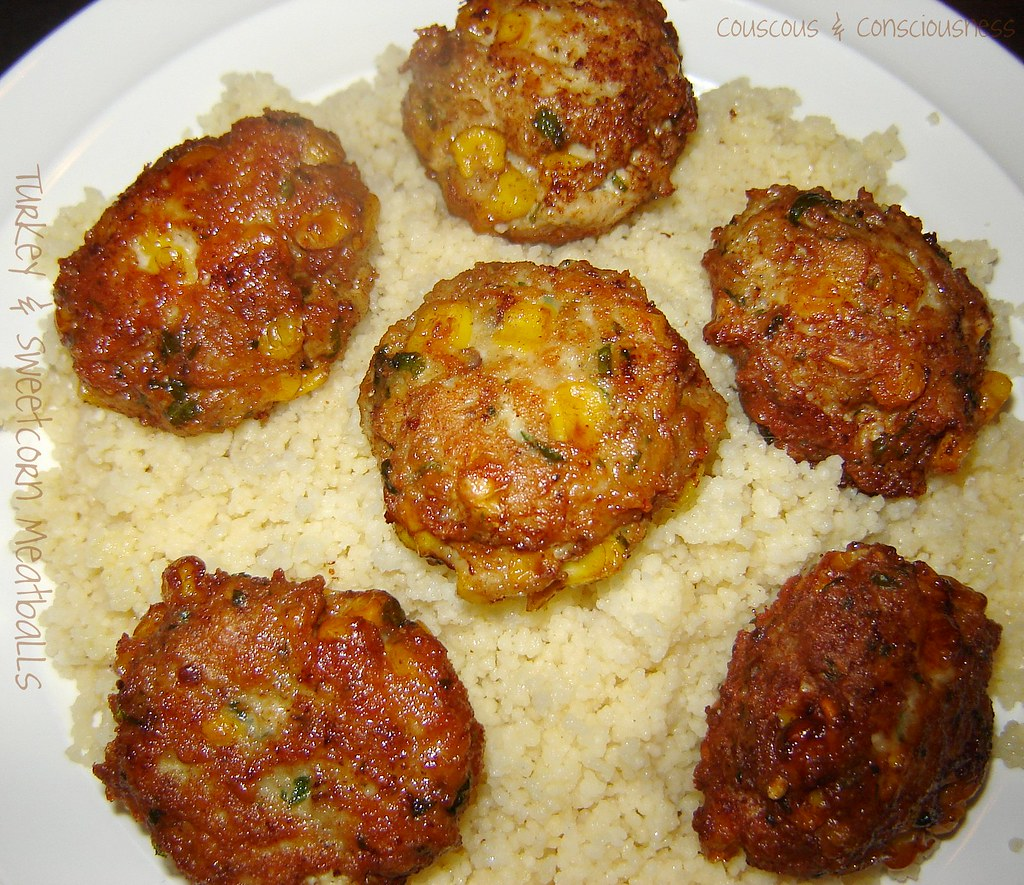 Turkey & Sweetcorn Meatballs with Roasted Red Pepper Sauce 2