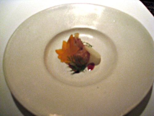 Manresa - Los Gatos, CA - November 20, 2010 - Autumn Fruit with Jasmine Tea, Bay Scallops in Pumpkin Seed Oil