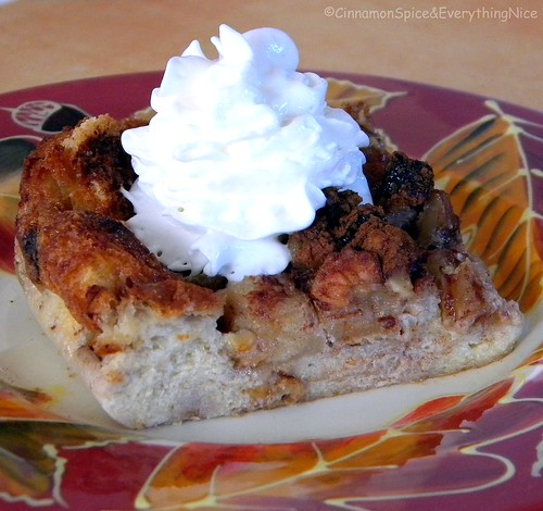 Apple Eggnog Bread Pudding